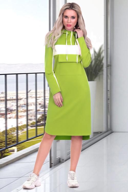 Платье Моника (салатовый неон)