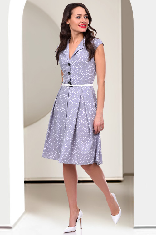 Платье Приорити (сильвер дотс)