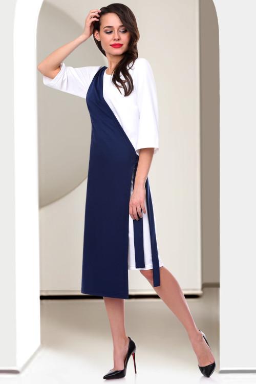 Платье Сеньёрита (блю&вайт)