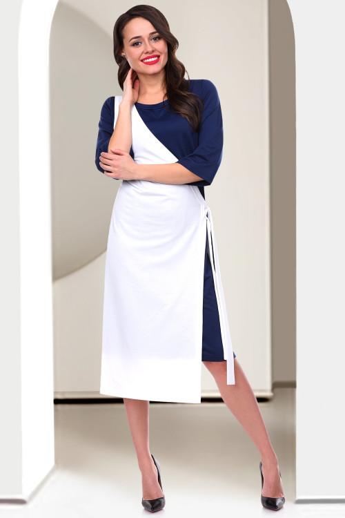 Платье Сеньёрита (вайт&блю)