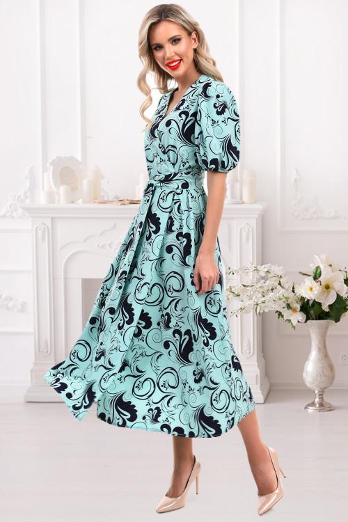 Платье Василика (скай)