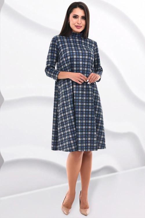 Платье Шэнна (клетка блю)