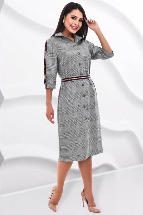 Платье Дэнди (клетка грэй)