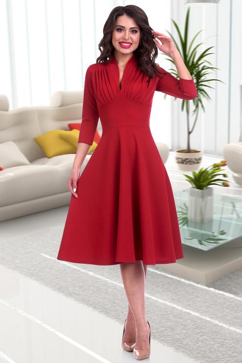Платье Беатрис (бордо)
