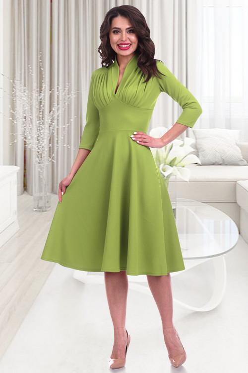 Платье Беатрис (лайм)