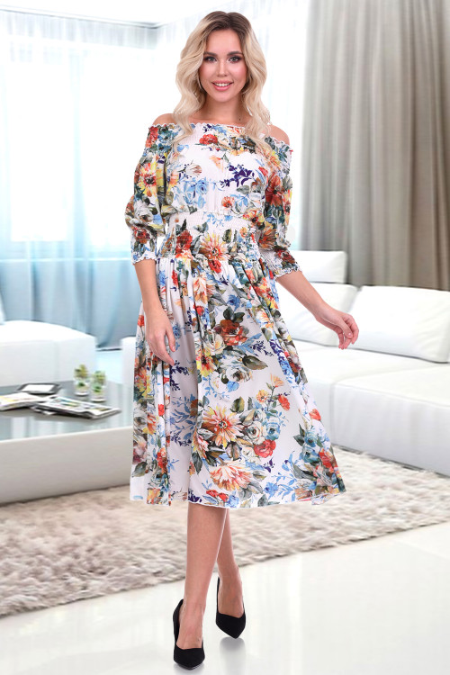 Платье Монро (фиори вайт)