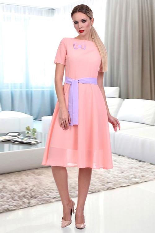 Платье Венеция (персик)
