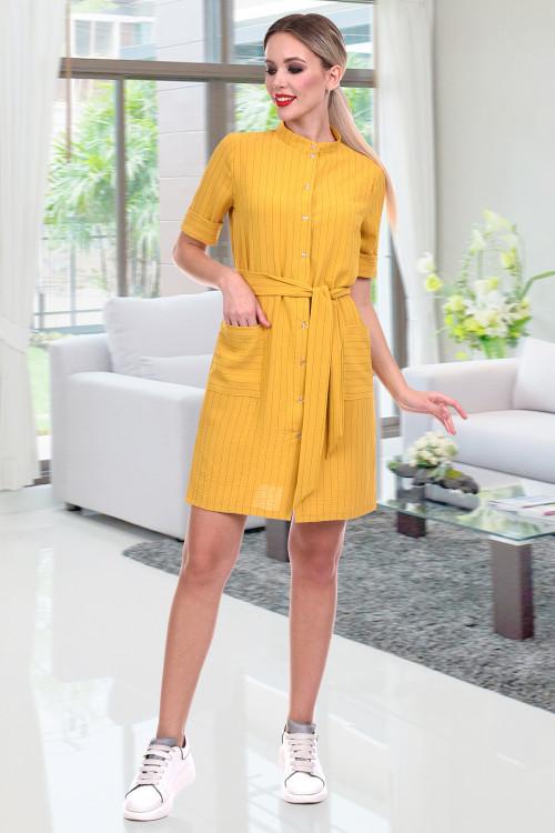 Платье-сафари Нэнси (горчица)