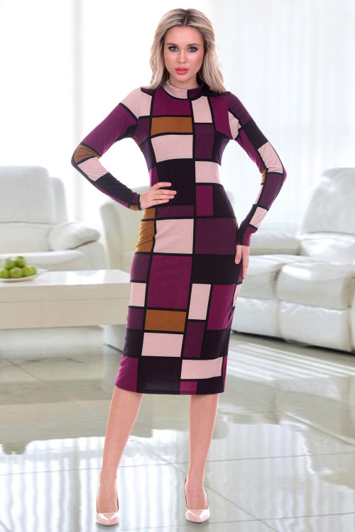 Платье-водолазка Флавия (геометрия)