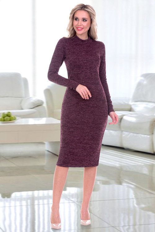 Платье-водолазка Флавия (вино)