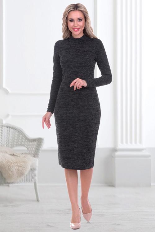 Платье-водолазка Флавия (графит)
