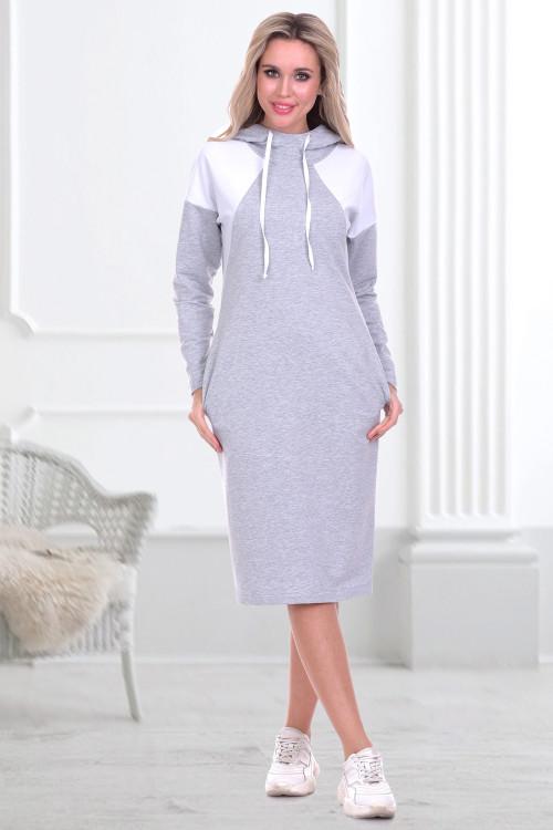 Платье-худи Парма (сильвер)