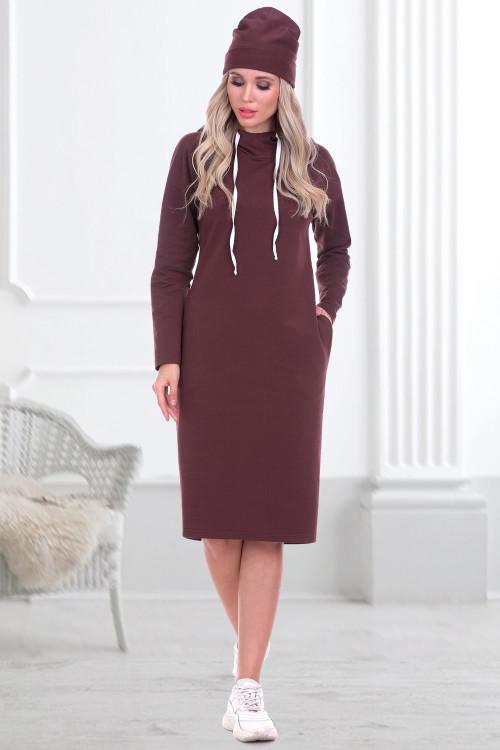 Платье-худи Парма (трюфель)