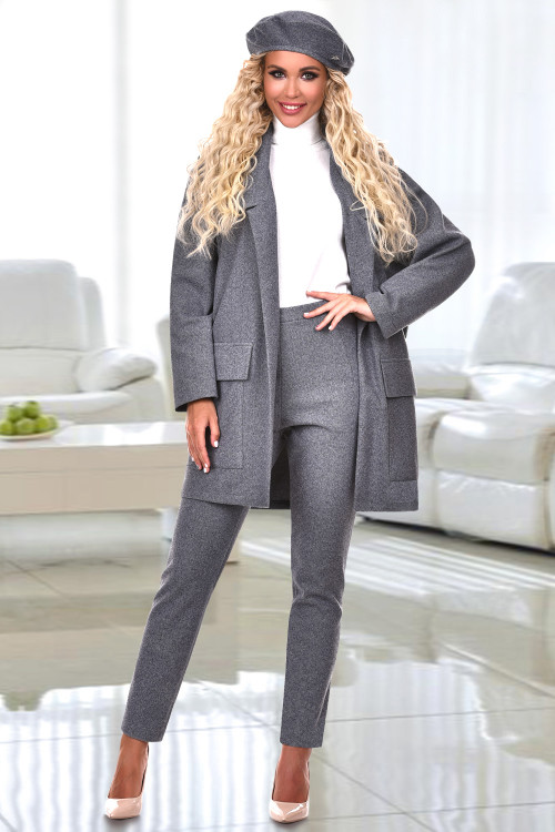 Жакет-пальто Бруклин (сильвер)